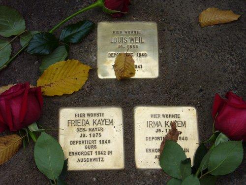 Louis Weil, Frieda und Irma Kayem